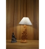 Woody Lamp House Silver Poly Cotton Table Lamp