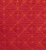 Yamini Pink & Orange Cotton 16 x 16 Inch Checker Board Embroidered Cushion Cover