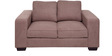Zaira Two Seater Sofa in Earthy Brown Colour by Evok
