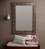 Celentano Decorative Mirror in Silver by Bohemiana