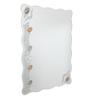 Zahab White Glass Bath Mirror